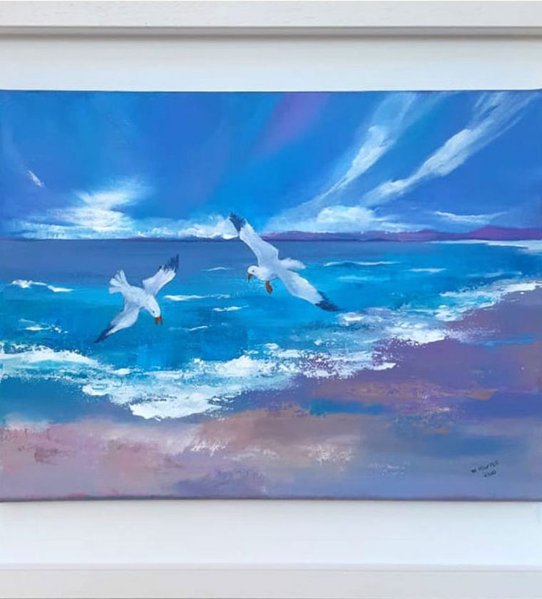 Sand Sea Seagulls